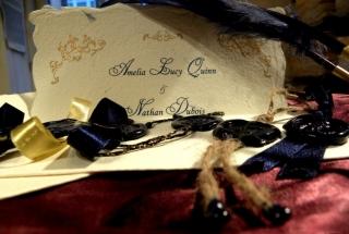 Handmade wedding program covers