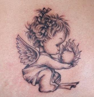 Adorn your body with original angel tattoos