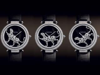 Cartier Masse Secrete Panther Decor Watch