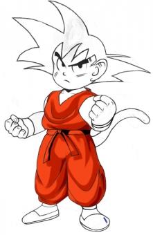 How to Draw Goku in 7 steps