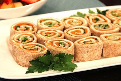 Tortilla Pinwheels and Jalapeño Ham Pinwheels Recipes